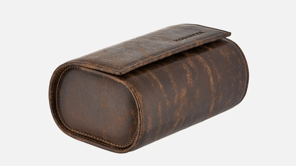 Oval Leather Travel Case
