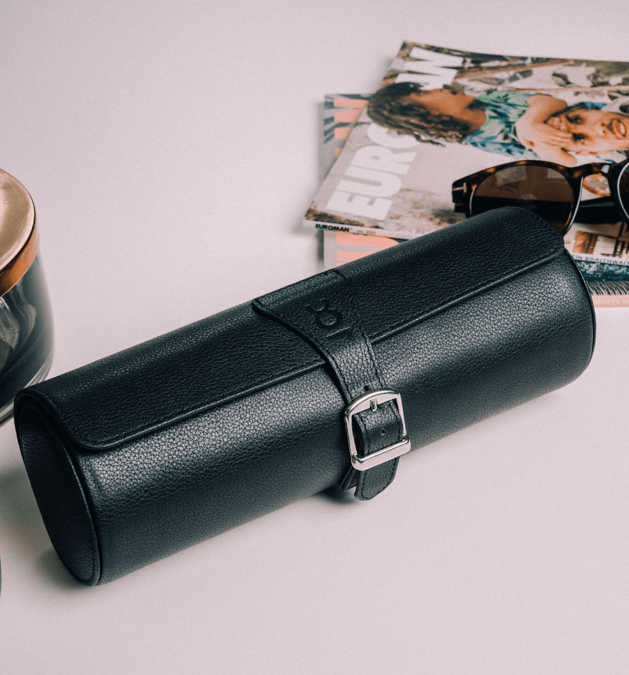 The Travel Leather Watch Roll