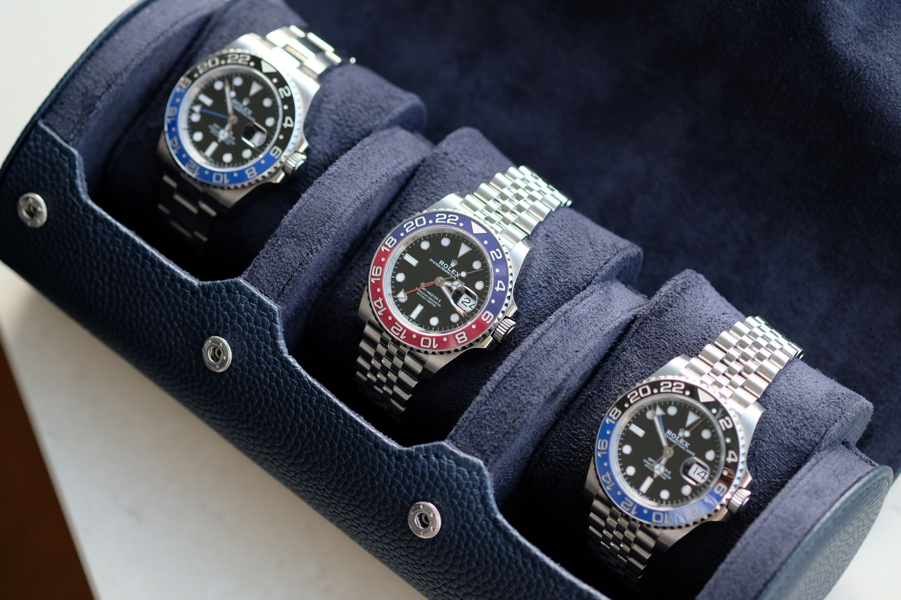 Rolex GMT-Master II in several variations