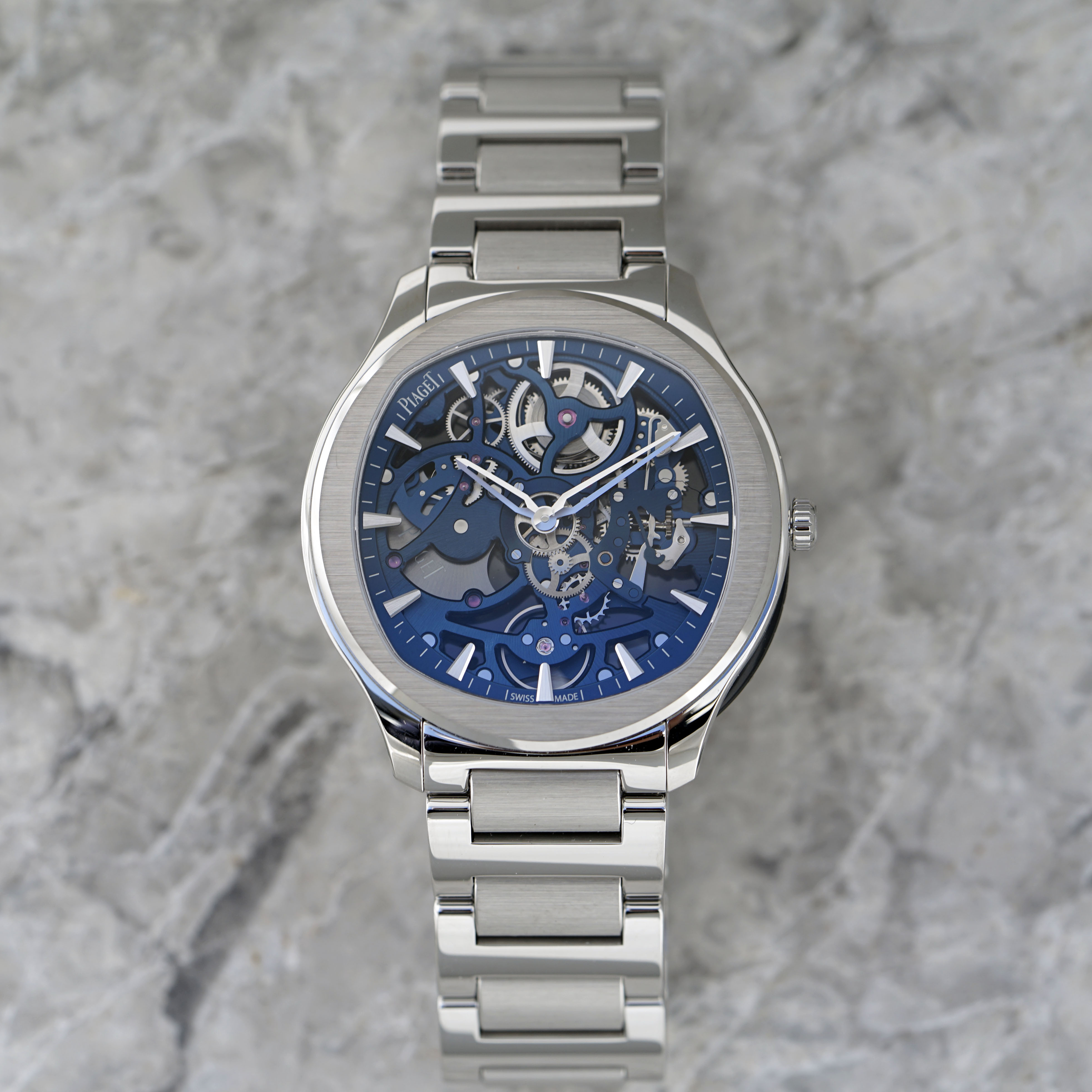 Piaget Polo Skeleton in stainless steel