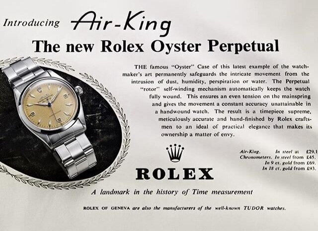 rolex history, historical ad