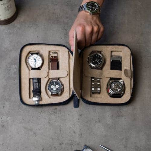 watch case for four watches